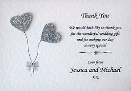 wedding thank you card 10 handmade personalised wedding thank you cards envelopes
