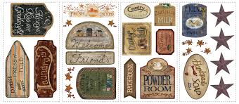 country signs decorative removable wall decals wall2wall