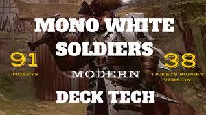 mtg modern mono white soldiers deck tech magic the gathering