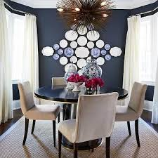 Navy Blue Paint Colors Transitional Dining Room Benjamin - Navy and white dining room