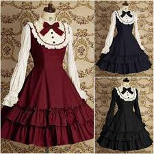 Yugioh Halloween Costume Vintage Black Blue Red Gothic Dress Halloween Victorian
