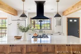 modern country kitchen with oak cabinets rustic modern farmhouse kitchen reveal maison de pax