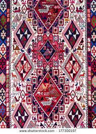 traditional georgian carpet carpets typical geometrical stock