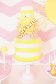 pink chevron you are my sunshine birthday party sunshine