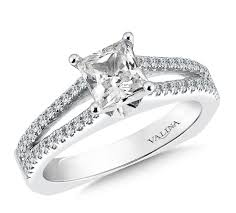 engagement rings dallas shira diamonds princess cut split shank engagement ring