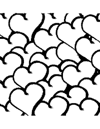 heart cluster coloring page png