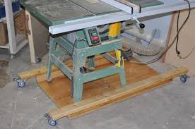 table saw mobile base tablesaw workstand