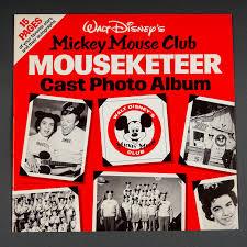 Mickey Mouse Photo Album Vintage 1975 Walt Disney U0027s Mickey Mouse Club Mouseketeer Cast