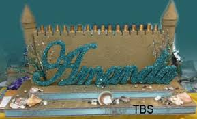 Sweet 16 Candelabra The Brat Shacksand Castle Candelabra With Script Name And Shells