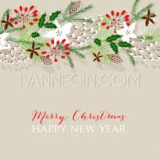 Happy New Year Invitation Merry Christmas Invitation And Happy New Year Card With A
