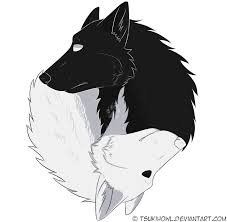 yin yang wolves by tsukihowl on deviantart