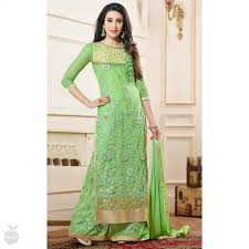 green karachi suit