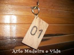 Famosos Chaveiro de Madeira Pousada Hotel no Elo7 | Arte, Madeira e Vida  @HP06