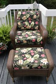 Outdoor Replacement Cushions Deep Seating Traditional Outdoor Patio Design With Seat Back And Ottoman Deep