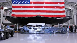 Huge Red Flag This Giant B 2 Replica Is How Airmen Train To Load Weapons Onto A