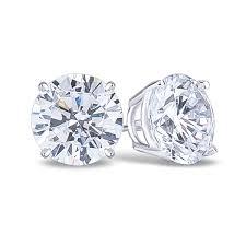 cubic zirconia earrings basket set cz stud earrings in 14k gold travel jewelry 14k