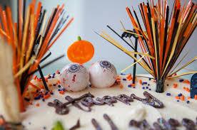 images of halloween cakes halloween stripey cake