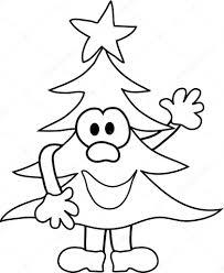 cartoon christmas tree u2014 stock vector pdesign 7464006