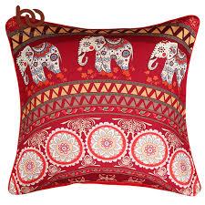 taie d oreiller pour canapé beddingoutlet mandala avec éléphant messenger housse de coussin