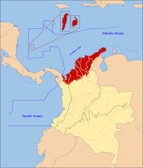 Map Caribbean by Caribbean Region Of Colombia Wikipedia