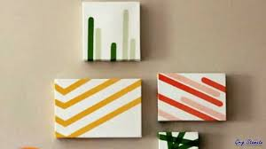 diy washi tape wall art how to use paper tape youtube