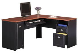 Realspace Dawson Computer Desk Best Corner Desk With Shelves For Small Executive Offices