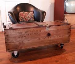 ammo box on casters for a coffee table for the home pinterest