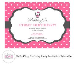 hello kitty printable invitation personalized birthday party
