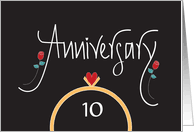 10 year anniversary card message 10th wedding anniversary cards from greeting card universe