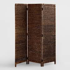 room divider wood white hand carved wood screen world market