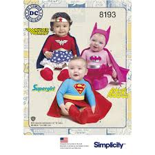 simplicity halloween costume patterns 8193 babies u0027 super hero costumes textillia online sewing