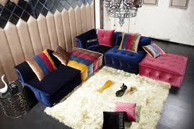 Modern Fabric Furniture by How To Decorate Your Living Room With A Modern Blue Fabric Sofa