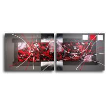 tableau original design chiaradeco tableau diptyque rouge noir gris blanc design