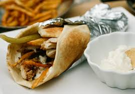 arabic wrap shish tawook sandwich chicken fries in pita middle eastern