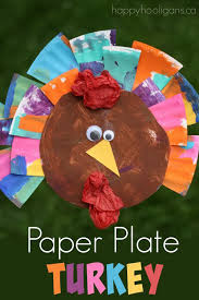 painted paper plate turkey craft happy hooligans