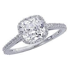 cushion diamond ring certified 1 07 carat classic halo diamond engagement ring