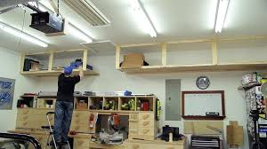 garage loft ideas loft storage wasted space garage storage shelves jays custom