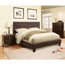 Deals On Bedroom Furniture by Furniture Of America Barrison Industrial Dark Grey Panel Bed