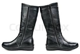 womens winter boots for sale a pair of black leather s winter boots isolated on white