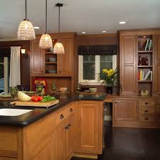 maple cabinets with oak floors kitchen traditional with long