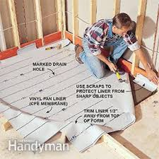 Installing Tile Shower Pan How To Build Shower Pans Family Handyman