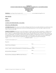 best photos of consent form template examples informed consent