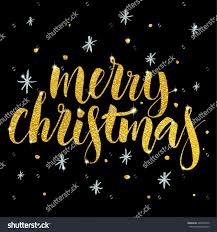 merry christmas modern merry christmas card modern calligraphy hand stock vector