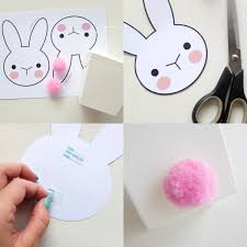 bunny takeaway box printable poppet