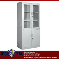 metal storage cabinet with glass doors bathroom storage cabinet