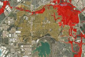 Map Of Denton County Coppell Warns Residents In Danger Of Flooding Nbc 5 Dallas Fort