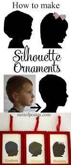how to make silhouette ornaments