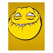 Smiley Meme - meme face smiley emoticon yelow funny head troll postcard zazzle com