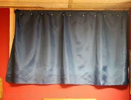 Basement Window Curtains Basement Window Curtains No Sew