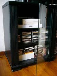 Stereo Cabinets With Glass Doors Pine Hifi Cabinet With Glass Door Bar Cabinet